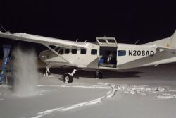 Cessna Caravan In The Snow