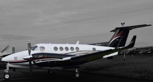 King Air 200 at Gloucestershire EGBJ